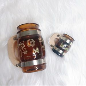 Other - Kentucky and Montreal brown glass ware wood handle